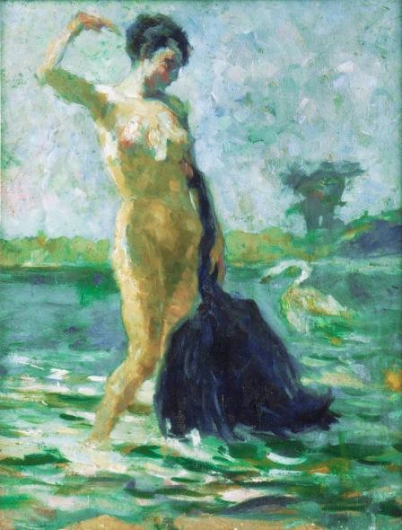 Cisne Negro 27x35-óleo