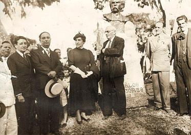 Inauguração do busto de Carlos gomes