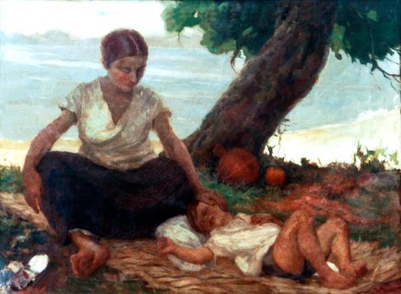 caricia materna