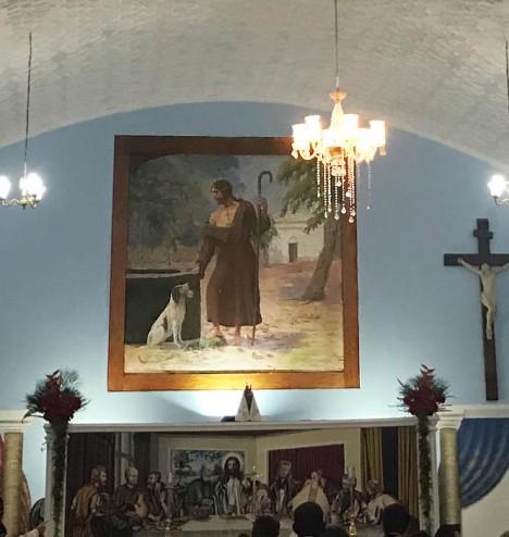 Quadro na Capela de São Roque - Paquetá
